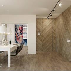 DOMENICA: styl , w kategorii Jadalnia zaprojektowany przez Ludwinowska Studio Architektury