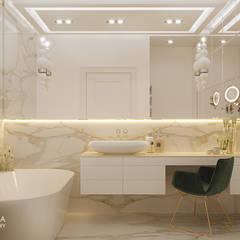 JOLIOT-CURIE: styl , w kategorii Łazienka zaprojektowany przez Ludwinowska Studio Architektury