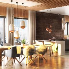 SHIRE: styl , w kategorii Jadalnia zaprojektowany przez Ludwinowska Studio Architektury
