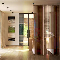 SHIRE: styl , w kategorii Korytarz, przedpokój zaprojektowany przez Ludwinowska Studio Architektury