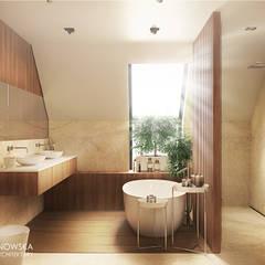 SHIRE: styl , w kategorii Łazienka zaprojektowany przez Ludwinowska Studio Architektury