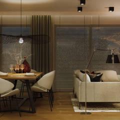 GEISHA: styl , w kategorii Jadalnia zaprojektowany przez Ludwinowska Studio Architektury