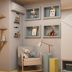 Espaço Arquitetural | Arquitetos em Natalが手掛けた赤ちゃん部屋, モダン MDF