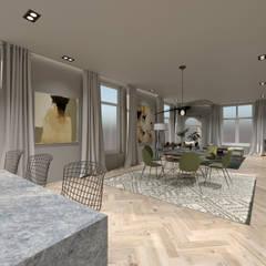 3D Visualisatie - Rotterdam:  Eetkamer door Spijker Design Studio,