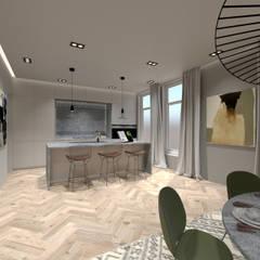 3D Visualisatie - Rotterdam:  Keuken door Spijker Design Studio