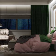NOCTURNE: styl , w kategorii Sypialnia zaprojektowany przez Ludwinowska Studio Architektury