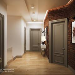 NOCTURNE: styl , w kategorii Korytarz, przedpokój zaprojektowany przez Ludwinowska Studio Architektury