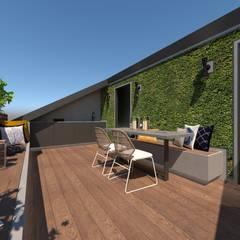 3D Visualisatie - Milaan:  Terras door Spijker Design Studio