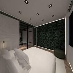 3D Visualisatie - Delft:  Slaapkamer door Spijker Design Studio