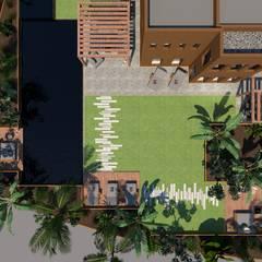 3D Visualisatie - Dubai:  Tuin door Spijker Design Studio