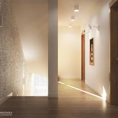 FOREST HOME: styl , w kategorii Korytarz, przedpokój zaprojektowany przez Ludwinowska Studio Architektury