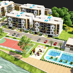 Proyecto BRISAS DEL RÍO - República Dominicana: Casas multifamiliares de estilo  por Taller 3M Arquitectura & Construcción