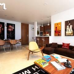 Proyecto BRISAS DEL RÍO - República Dominicana: Salas de estilo  por Taller 3M Arquitectura & Construcción