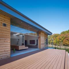南河内の家/House in Minami-kawachi: 藤原・室 建築設計事務所が手掛けたテラス・ベランダです。,モダン