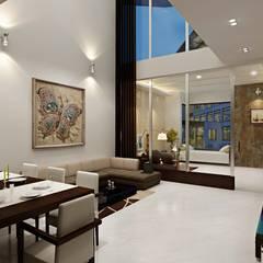4-BHK Villa @ Gopalpura, Jaipur:  Corridor & hallway by Aone Interior Designer Jaipur