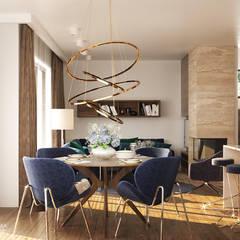 MIDNIGHT: styl , w kategorii Jadalnia zaprojektowany przez Ludwinowska Studio Architektury,