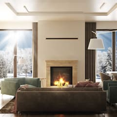 IMPRESJE: styl , w kategorii Salon zaprojektowany przez Ludwinowska Studio Architektury
