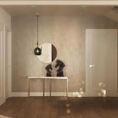 IMPRESJE Eklektyczny korytarz, przedpokój i schody od Ludwinowska Studio Architektury Eklektyczny