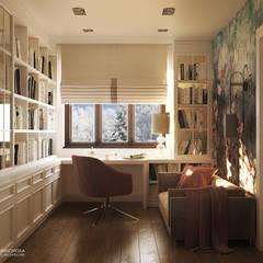 IMPRESJE: styl , w kategorii Domowe biuro i gabinet zaprojektowany przez Ludwinowska Studio Architektury