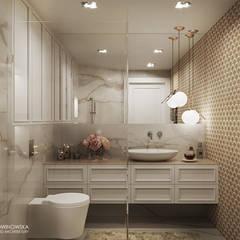 IMPRESJE Eklektyczna łazienka od Ludwinowska Studio Architektury Eklektyczny
