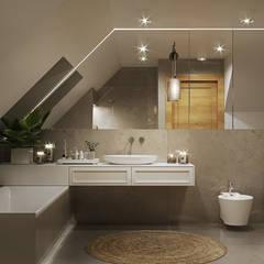 IMPRESJE: styl , w kategorii Łazienka zaprojektowany przez Ludwinowska Studio Architektury