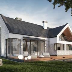 Projekt domu jednorodzinnego: styl , w kategorii Dom jednorodzinny zaprojektowany przez KJ Architekci