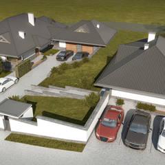 Projekt domu w Beskidach: styl , w kategorii Dom jednorodzinny zaprojektowany przez KJ Architekci