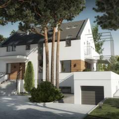 Wizualizacja stanu docelowego: styl , w kategorii Dom jednorodzinny zaprojektowany przez KJ Architekci