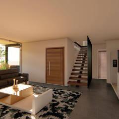 CASA DE CAMPO FAMILIA HERNÁNDEZ : Escaleras de estilo  por GóMEZ arquitectos