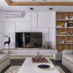 Living room by KOSOUR INTERIORS