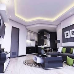 Apartemen Gading Mediterania Jakarta: Ruang Keluarga oleh Maxx Details,