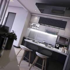 Apartemen Gading Mediterania Jakarta: Dapur oleh Maxx Details,