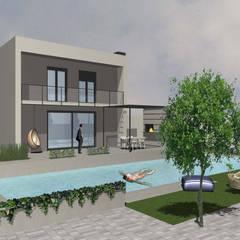 Giardino villa FR: Giardino in stile  di salvatore dessì architetto