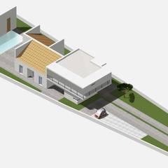 Villa FB: Giardino in stile  di salvatore dessì architetto