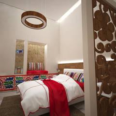 Hotel Boutique Centro Histórico: Dormitorios de estilo  por Armo Dezain,