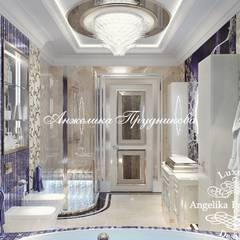 Дизайн-проект интерьера ванной комнаты в ЖК Алые паруса: Ванные комнаты в . Автор – Дизайн-студия элитных интерьеров Анжелики Прудниковой