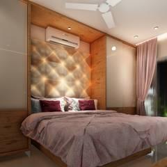 UPCOMING 3BHK - AT TINSEL TOWN, HINJEWADI.:  Bedroom by DESIGN EVOLUTION LAB