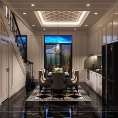Design for Villa - In Neoclassic Style:  Nhà bếp by ICON INTERIOR