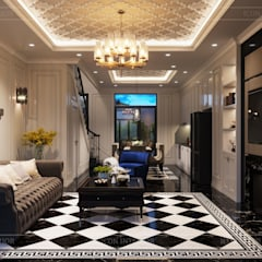 Design for Villa - In Neoclassic Style:  Phòng khách by ICON INTERIOR