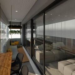 Balcón de estilo  por Aya Arquitetura