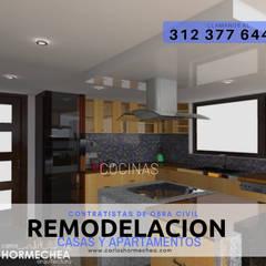 General: Casas campestres de estilo  por CARLOS HORMECHEA ARQUITECTURA