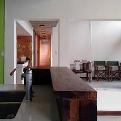 """Diseño y construcción de Casa """"patios entre medianeras"""" por 1.61 Arquitectos: Livings de estilo  por 1.61 Arquitectos"""