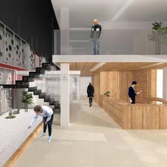 Projekty,  Schody zaprojektowane przez Albaladejo Arquitectos