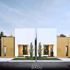 Petites maisons de style  par Atelier BAOU+