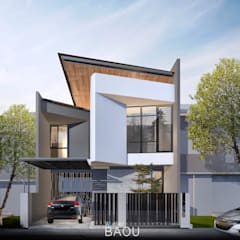 HD HOUSE:  Rumah tinggal  by Atelier BAOU+