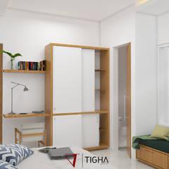 Interior Master Bedroom:  Kamar Tidur by Tigha Atelier