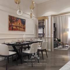 Весенний Париж в миниатюре: интерьер квартиры на Пречистенке: Столовые комнаты в . Автор – Архитектурное бюро «Парижские интерьеры»
