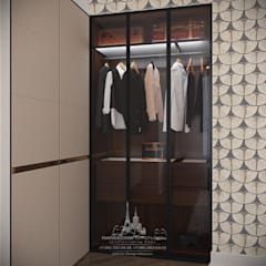 Весенний Париж в миниатюре: интерьер квартиры на Пречистенке: Гардеробные в . Автор – Архитектурное бюро «Парижские интерьеры»,