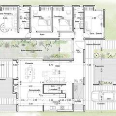 Diseño de Casa en Cañitas 01 por 1.61 Arquitectos: Casas de estilo  por 1.61 Arquitectos,Moderno