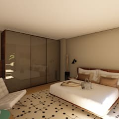 Apartment Renovation:  Bedroom by Inline Spaces Pty Ltd,